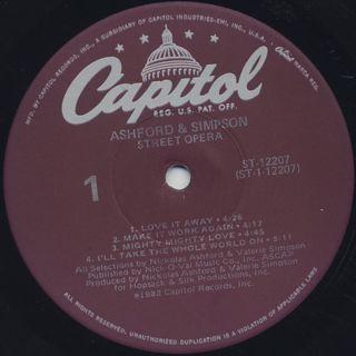 Ashford & Simpson / Street Opera label