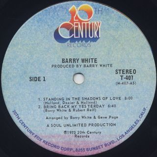 Barry White / I've Got So Much To Give label