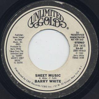 Barry White / Sheet Music (7