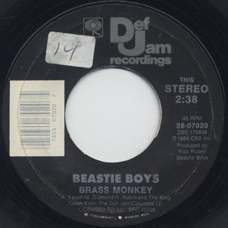 Beastie Boys / Posse In Effect c/w Brass Monkey back