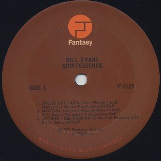Bill Evans / Quintessence label