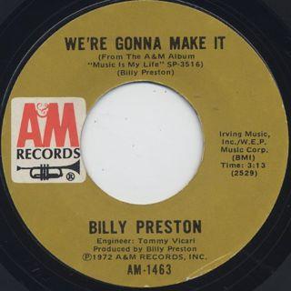 Billy Preston / Space Race c/w We're Gonna Make It back