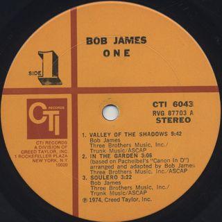 Bob James / One label
