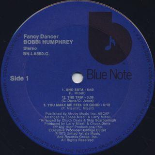 Bobbi Humphrey / Fancy Dancer label