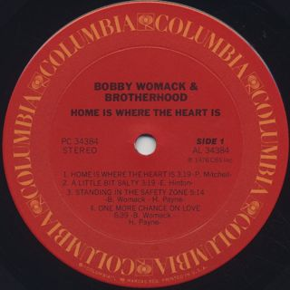 Bobby Womack & Brotherhood / Home Is Where The Heart Is label