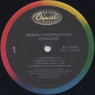 Brass Construction / Conquest label