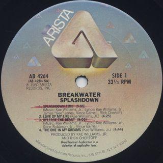 Breakwater / Splashdown label