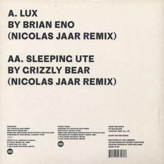 Brian Eno x Nicolas Jaar x Grizzly Bear / Lux back