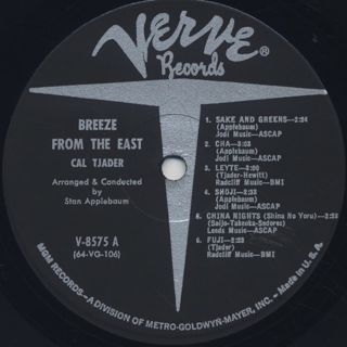 Cal Tjader / Breeze From The East label