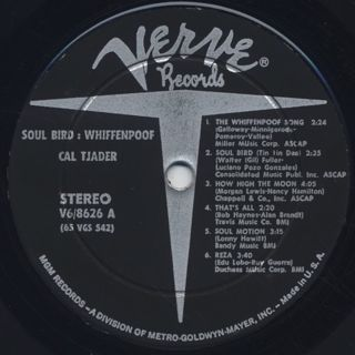 Cal Tjader / Soul Bird: Whiffenpoof label