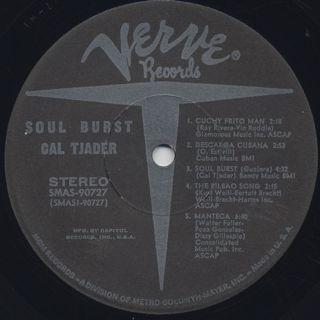 Cal Tjader / Soul Burst label
