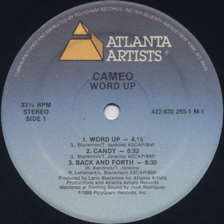 Cameo / Word Up! label