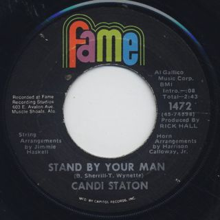 Candi Staton / Stand By Your Man c/w How Can I Put Out The Flame front