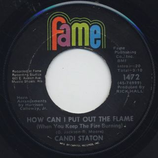 Candi Staton / Stand By Your Man c/w How Can I Put Out The Flame back