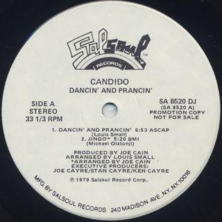 Candido / Dancin' & Prancin' label