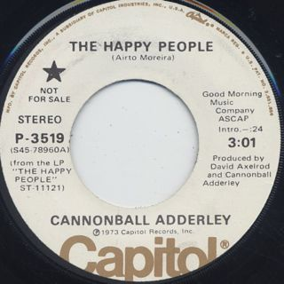 Cannonball Adderley / The Happy People c/w Savior