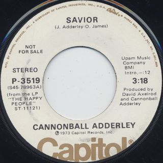 Cannonball Adderley / The Happy People c/w Savior back