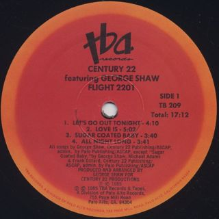 Century 22 Featuring George Shaw / Flight 2201 label