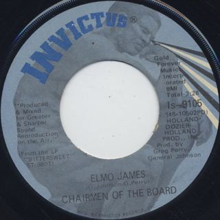 Chairmen Of The Board / Elmo Jones c/w Bittersweet front