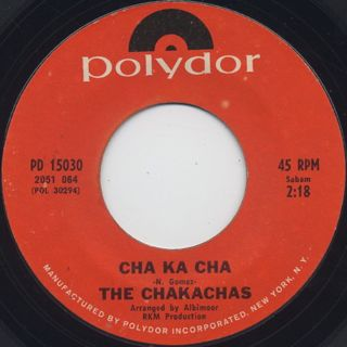 Chakachas / Jungle Fever c/w Cha Ka Cha back