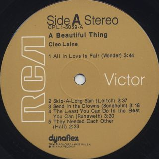 Cleo Laine / A Beautiful Thing label