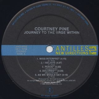 Courtney Pine / Journey To The Urge Within label