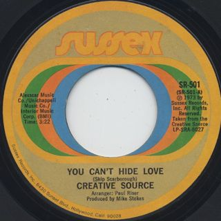 Creative Source / You Can't Hide Love