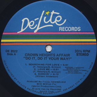 Crown Heights Affair / Do It Your Way label