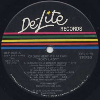 Crown Heights Affair / Foxy Lady label