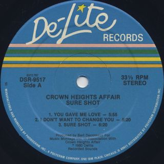 Crown Heights Affair / Sure Shot label