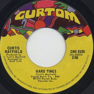 Curtis Mayfield / So In Love c/w Hard Times back