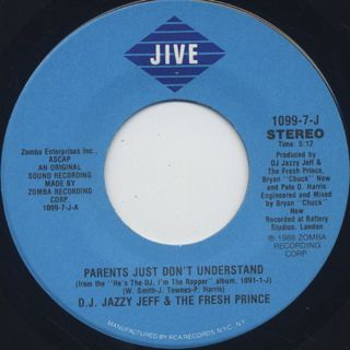 D.J. Jazzy Jeff & The Fresh Prince / Parents Just Don't Understand label