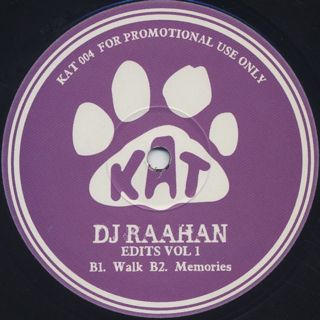 DJ Raahan / Edits Vol 1 back