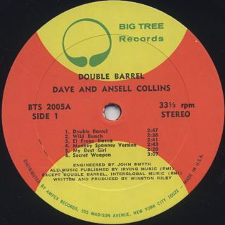 Dave and Ansell Collins / Double Barrel label