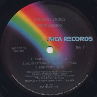David Axelrod / Strange Ladies label