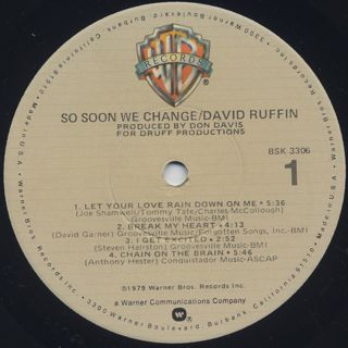 David Ruffin / So Soon We Change label