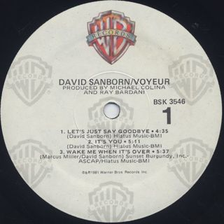 David Sanborn / Voyeur label