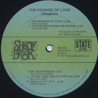 Delegation / The Promise Of Love label