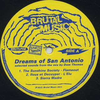 Dom Thomas / Dreams Of San Antonio label
