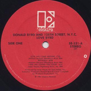 Donald Byrd and 125th Street, N.Y.C. / Love Byrd label