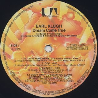 Earl Klugh / Dream Come True label