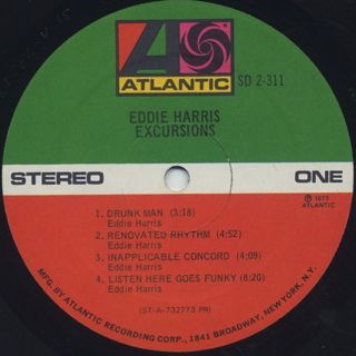 Eddie Harris / Excursions label