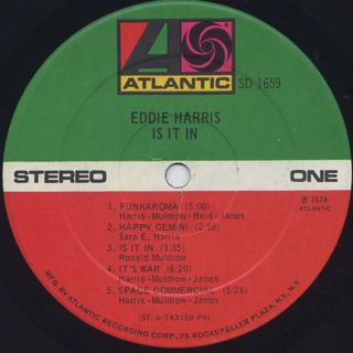 Eddie Harris / Is It In label