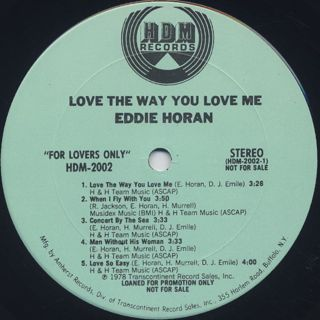 Eddie Horan / Love The Way You Love Me label