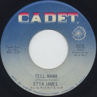 Etta James / Tell Mama c/w I'D Rather Go Blind