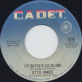 Etta James / Tell Mama c/w I'D Rather Go Blind back