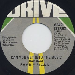 Family Plann / Sexy Summer c/w Can You Get Into The Music back