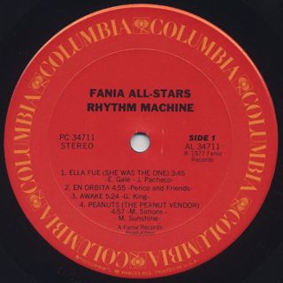 Fania All Stars / Rhythm Machine label