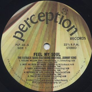 Fatback Band / Feel My Soul label