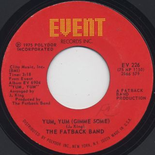 Fatback Band / Yum,Yum(Gimme Some) c/w Let The Drums Speak